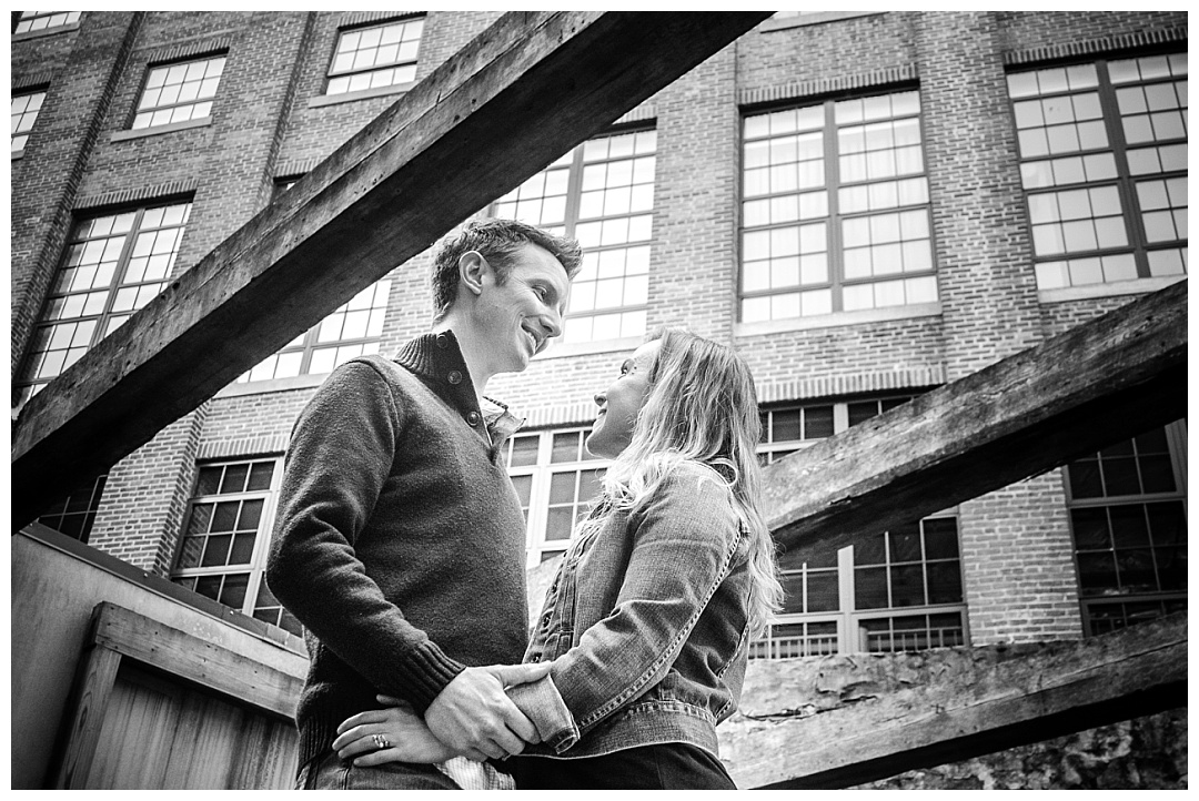 Oella Mill Engagement Photo