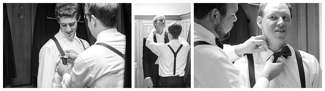 Groomsmen preparing for wedding
