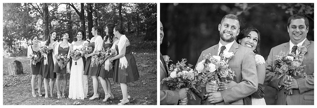 goofy bridal party photo