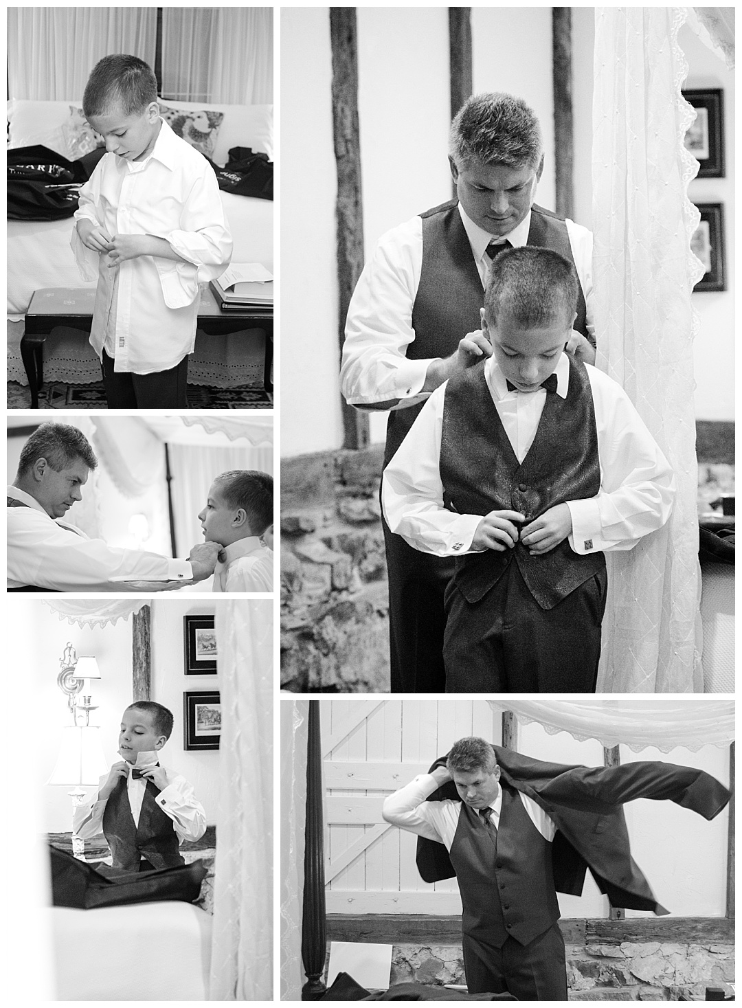 boys and father preparing for wedding