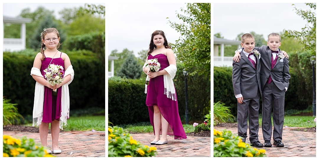 bridesmaids and groomsmen photos