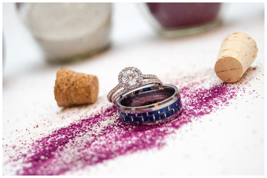 wedding bands in unity sand