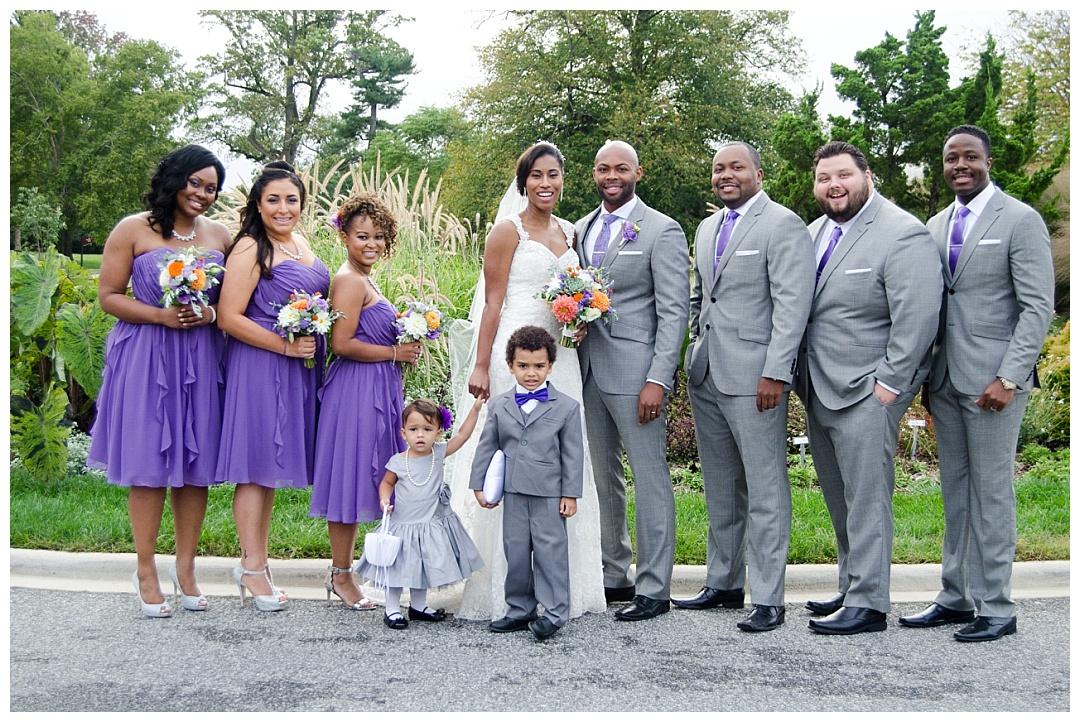 Cylburn Arboretum wedding party photo
