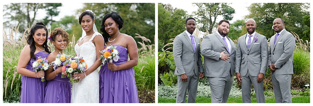 Cylburn Arboretum wedding bridesmaids groomsmen