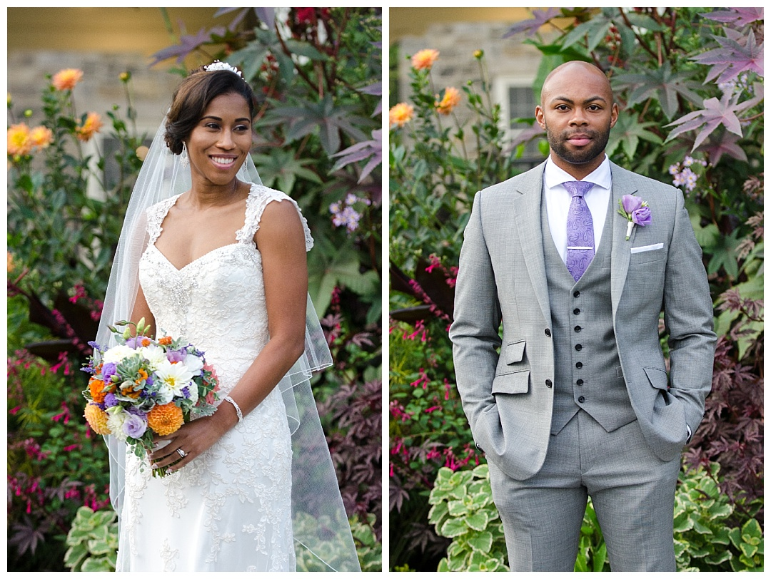 Cyburn Arboretum wedding photos bride groom