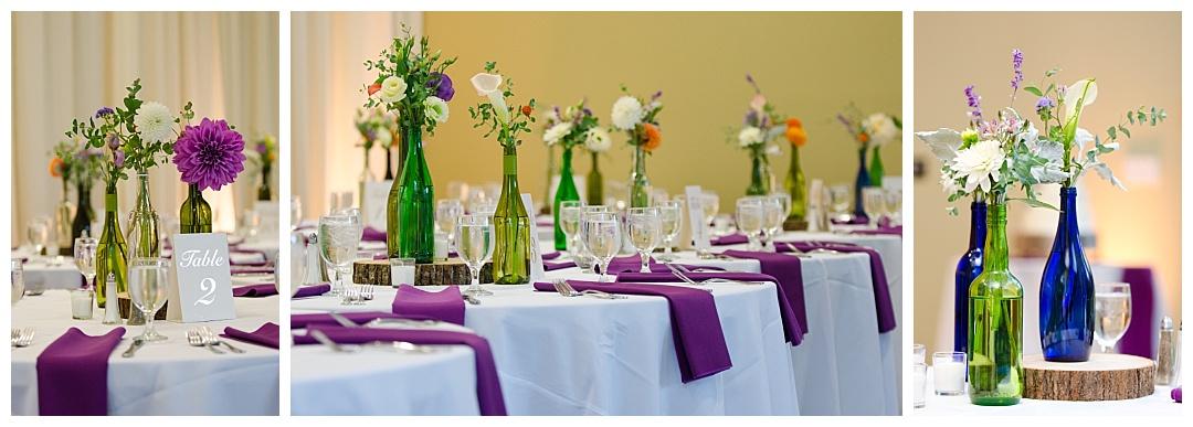 Cylburn Arboretum wedding reception colorful details