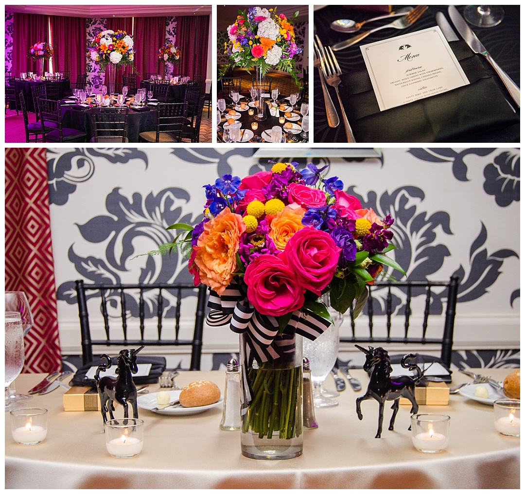 Hotel Monaco wedding reception