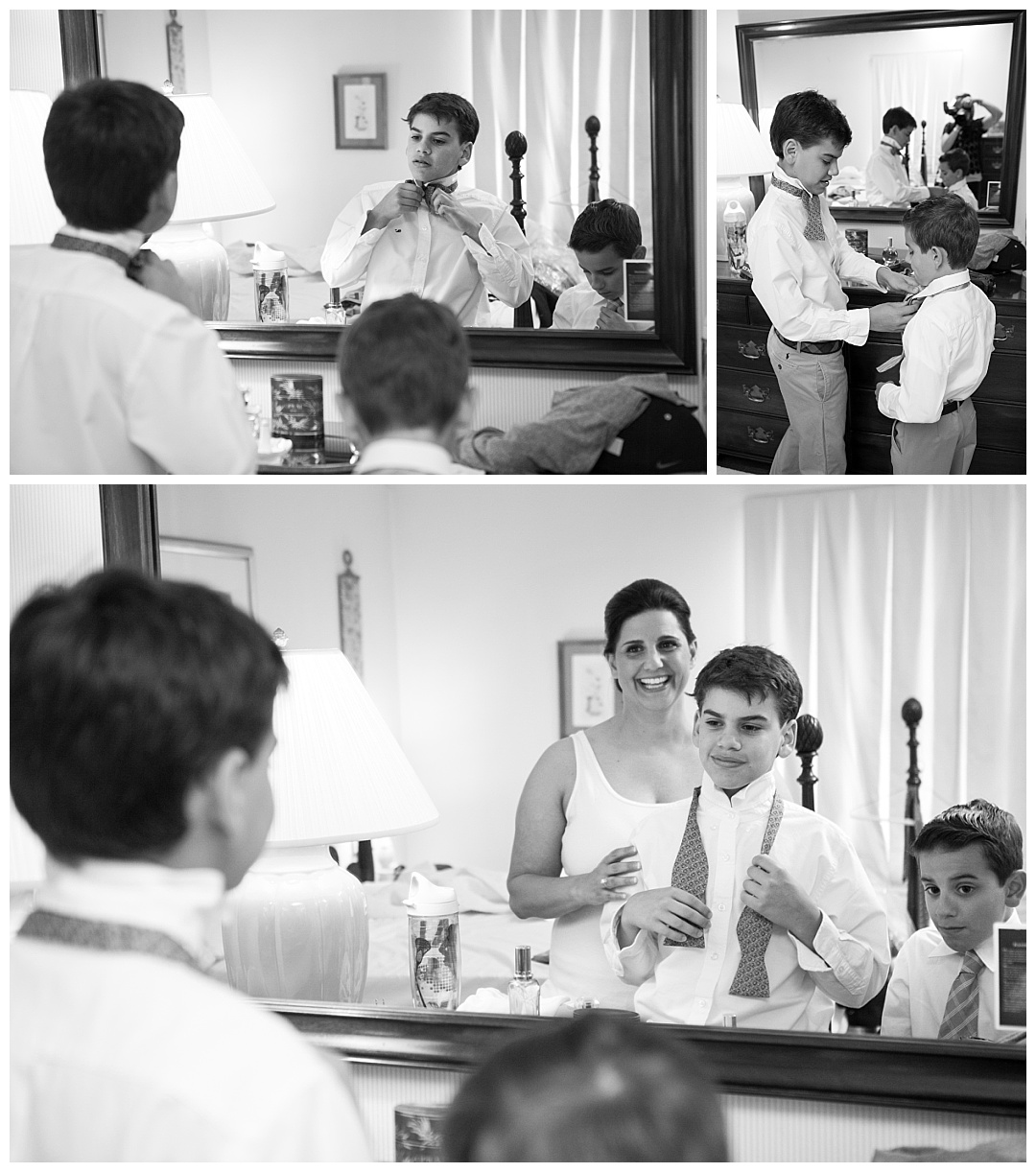 boys getting ready for wedding