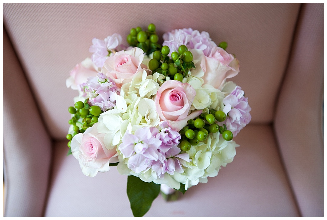 pink purple white wedding bouquet