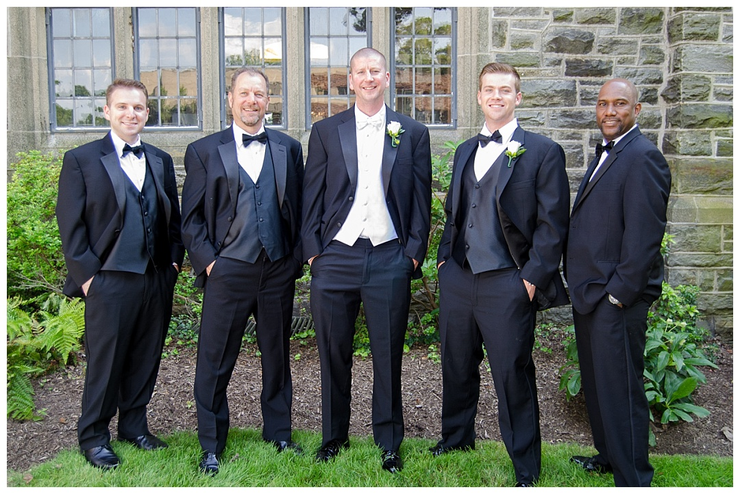 groomsmen wedding photo Maryvale Castle