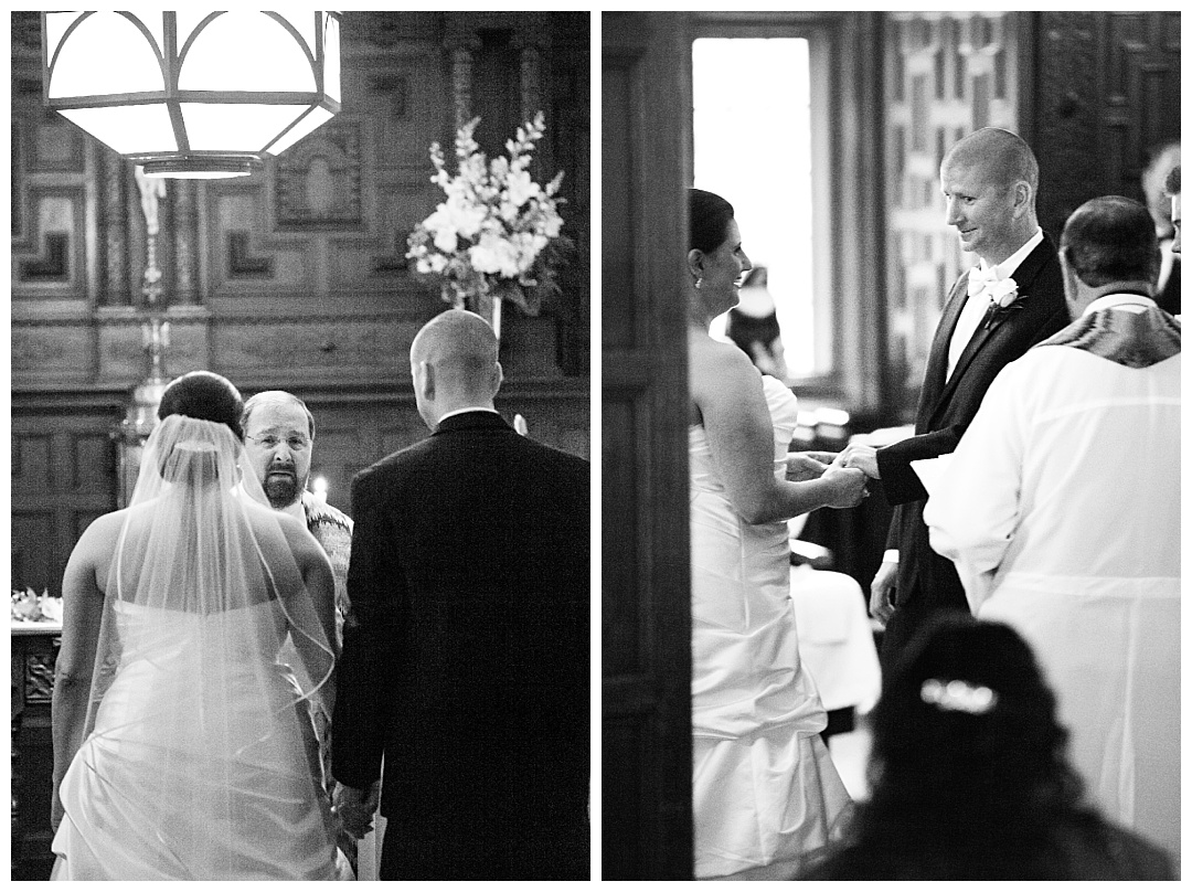 Catholic wedding ceremony Maryvale Castle