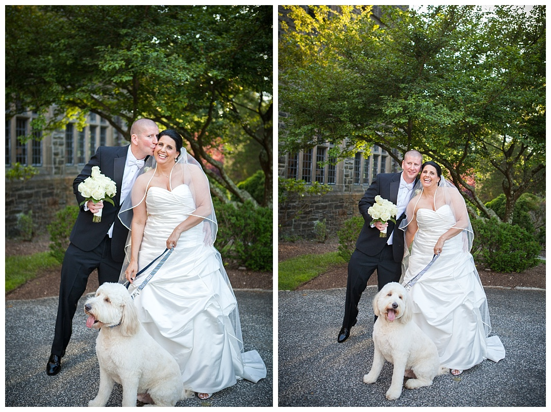 bride and groom dog Maryvale Castle