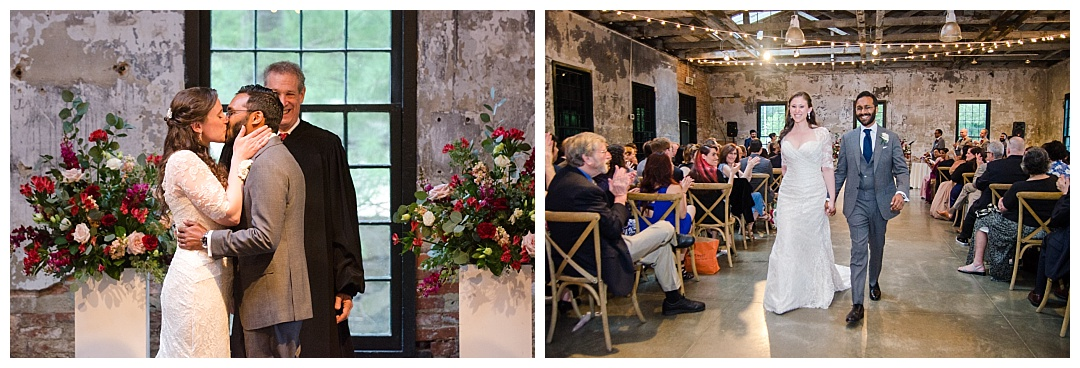 Mt. Washington Mill Dye House wedding ceremony