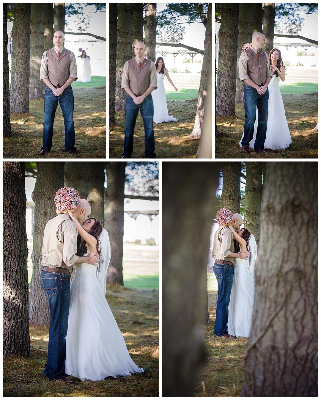 Piney Branch Golf Club wedding bride groom first look