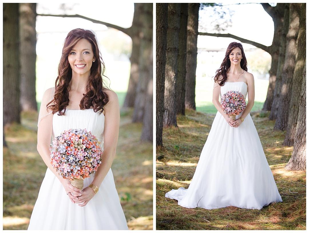 Piney Branch Golf Club wedding bride