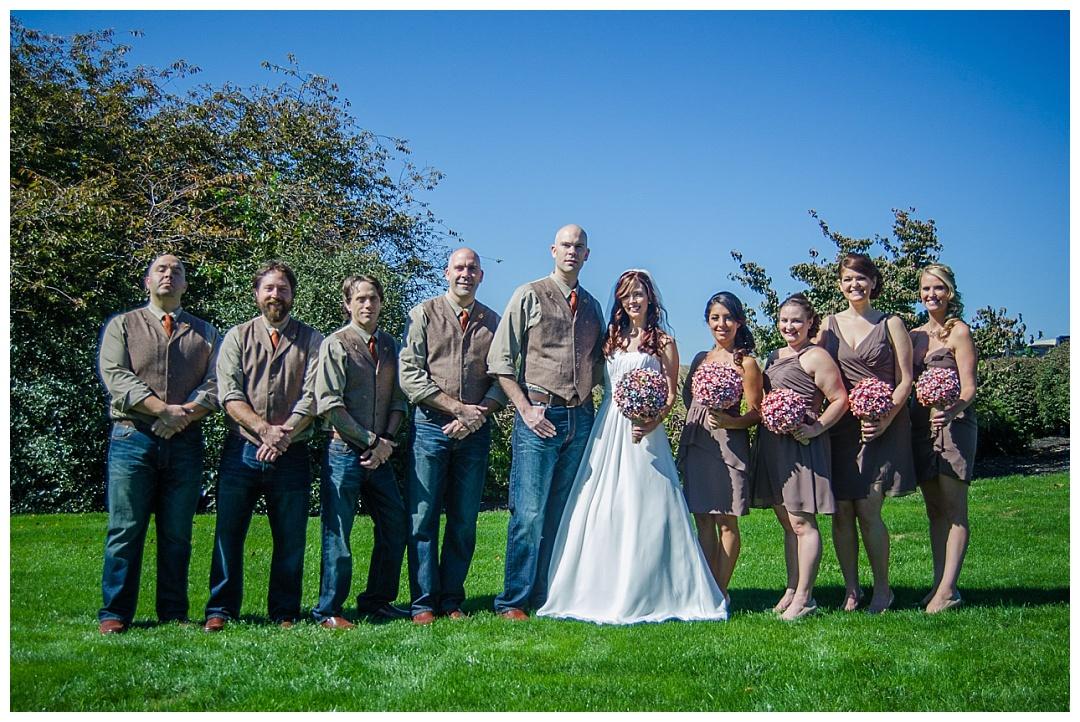 Piney Branch Golf Club wedding bridal party