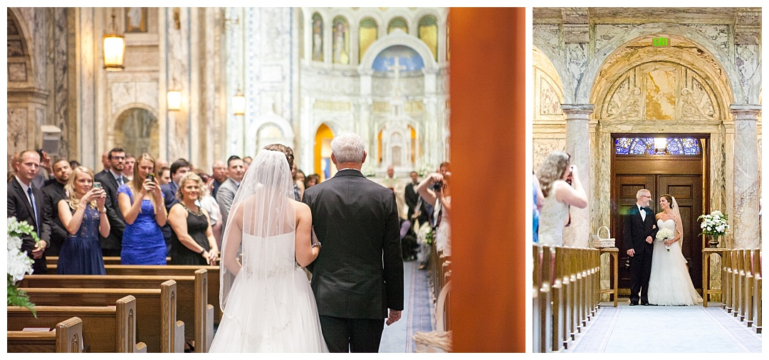 Our Lady of Angels Church wedding ceremony