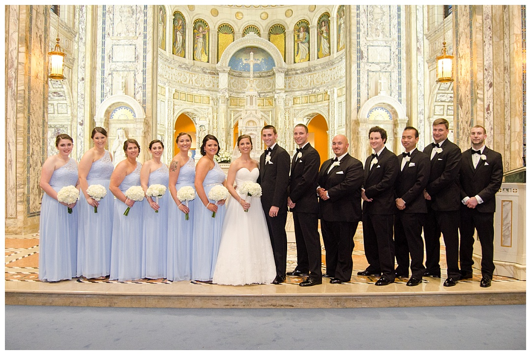 Our Lady of Angels wedding