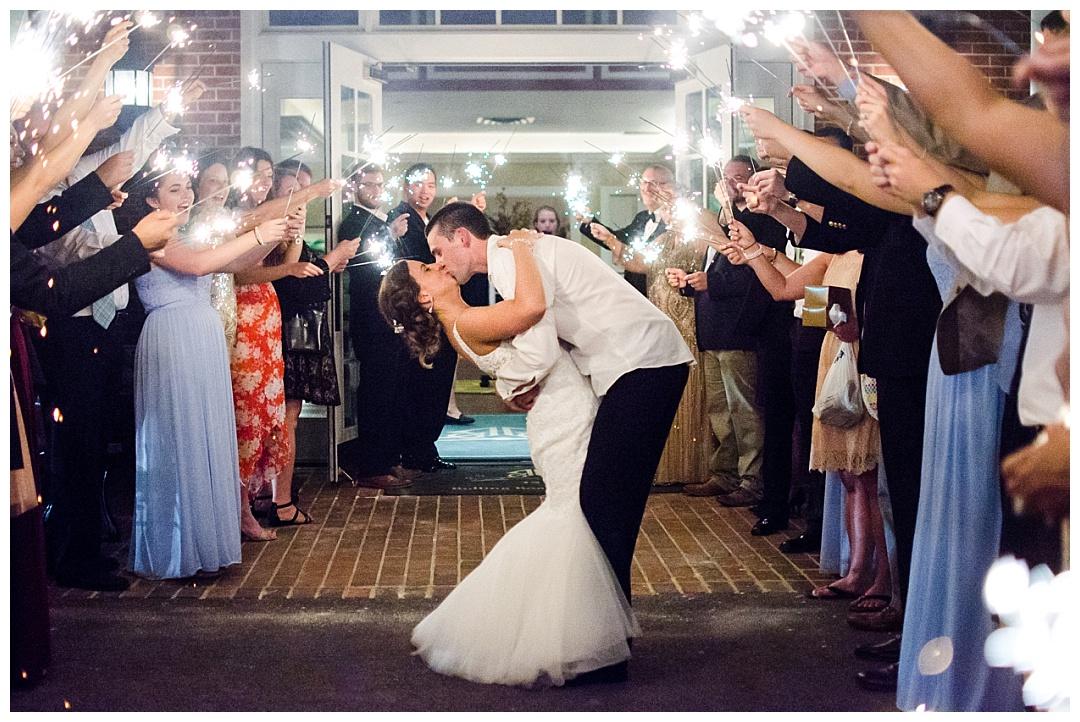 Rolling Road Golf Club wedding sparkler exit