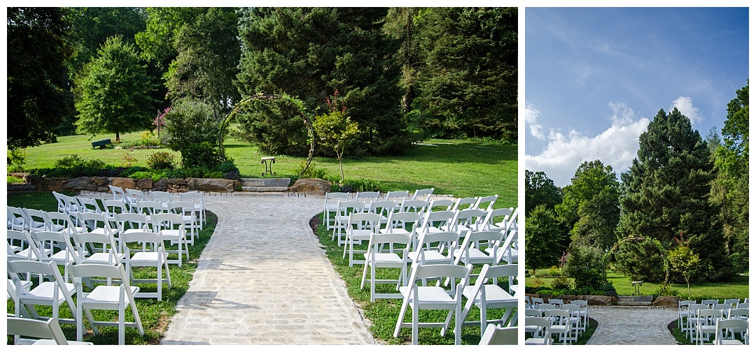 Spring Hill Manor outdoor ceremony