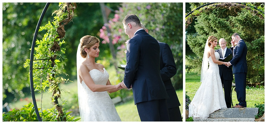 Spring Hill Manor wedding ceremony