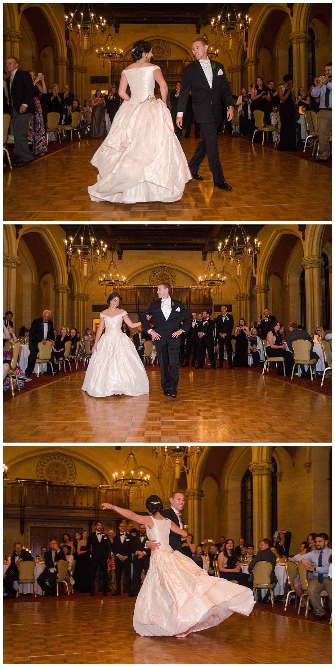 bride and groom first dance wedding