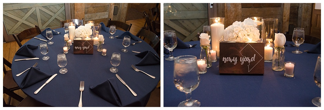 Wolftrap navy blue wedding reception Photos