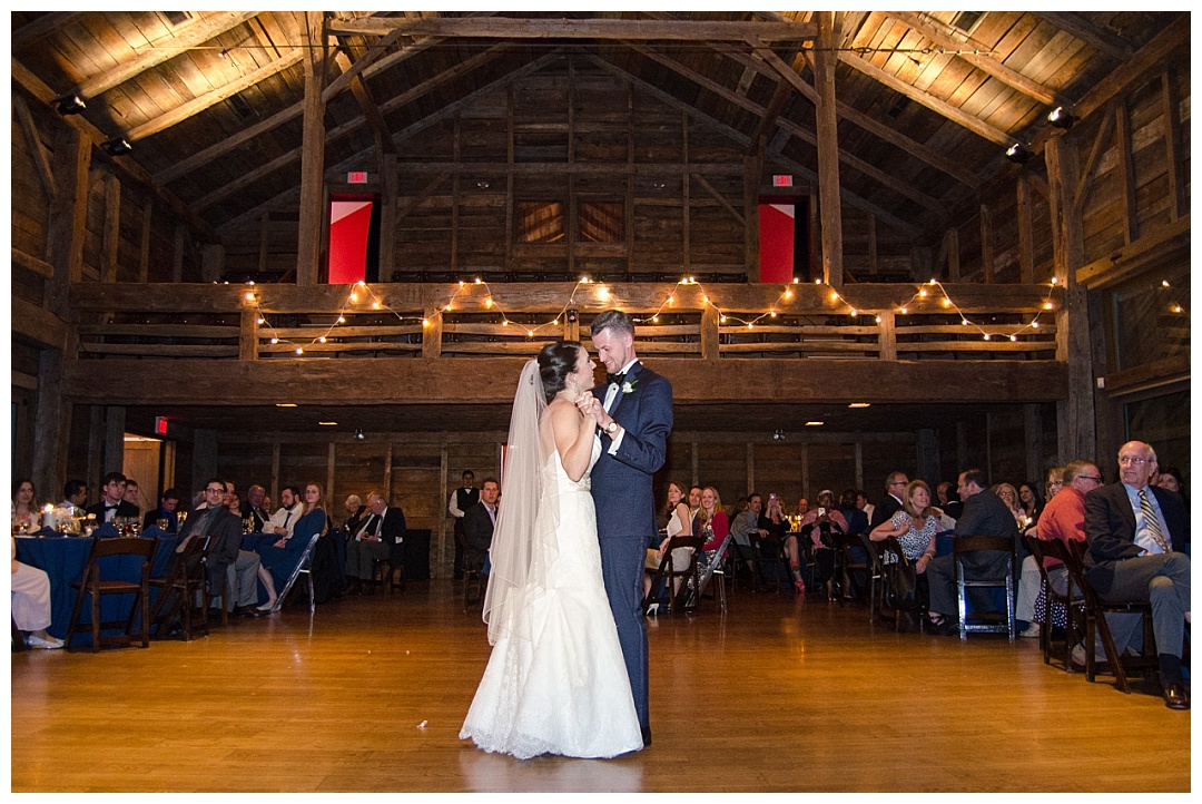 Wolftrap wedding reception bride groom first dance