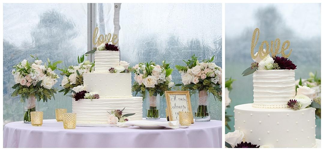 Glen Ellen Farm wedding cake